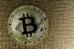 Bitcoin is a modern way of exchange and this crypto currency Royalty Free Stock Image