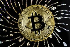 Bitcoin is a modern way of exchange and this crypto currency Stock Photography