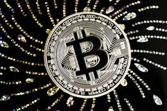 Bitcoin is a modern way of exchange and this crypto currency Stock Photo
