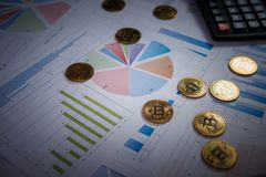 Bitcoin is a modern way of exchange and this crypto currency royalty free stock photo