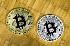 Bitcoin is a modern way of exchange and this crypto currency is a convenient means of payment in the financial and web markets Royalty Free Stock Image