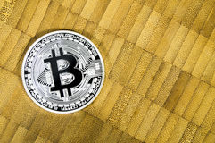 Bitcoin is a modern way of exchange and this crypto currency is a convenient means of payment in the financial and web markets Royalty Free Stock Images