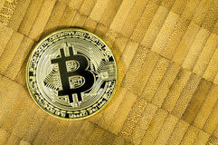 Bitcoin is a modern way of exchange and this crypto currency is a convenient means of payment in the financial and web markets Royalty Free Stock Photography