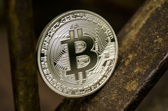 Bitcoin is a modern way of exchange and this crypto currency is a convenient means of payment in the financial and web Royalty Free Stock Photos