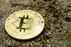 Bitcoin is a modern way of exchange and this crypto currency is a convenient means of payment in the financial and web Royalty Free Stock Photo