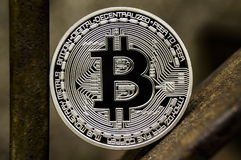 Bitcoin is a modern way of exchange and this crypto currency is a convenient means of payment in the financial and web Royalty Free Stock Image