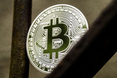 Bitcoin is a modern way of exchange and this crypto currency is a convenient means of payment in the financial and web Stock Photography