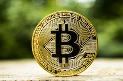 Bitcoin is a modern way of exchange and this crypto currency is a convenient means of payment in the financial and web Stock Photos