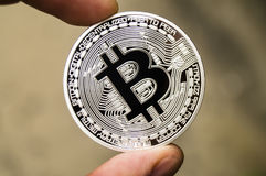 Bitcoin is a modern way of exchange and this crypto currency is a convenient means of payment in the financial and web Stock Photo