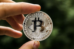 Bitcoin is a modern way of exchange and this crypto currency is a convenient means of payment in the financial and web Stock Image