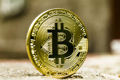 Bitcoin is a modern way of exchange and this crypto currency is a convenient means of payment in the financial and web. New crypto currency, bitcoin and computer royalty free stock images