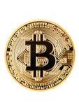 Bitcoin Moeda física do bocado Cryptocurrency imagens de stock