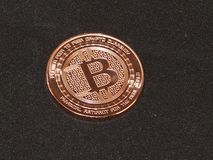 Bitcoin, moedas criptos, moeda virtual Fotos de Stock Royalty Free
