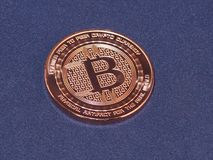 Bitcoin, moedas criptos, moeda virtual Fotografia de Stock