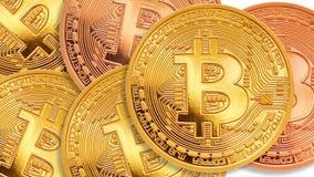 Bitcoin - moneda BTC del pedazo la nueva moneda crypto metrajes