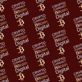 Bitcoin Moneda de Digitaces Modelo inconsútil Fotografía de archivo libre de regalías