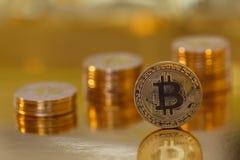 Bitcoin - moneda del futuro foto de archivo libre de regalías