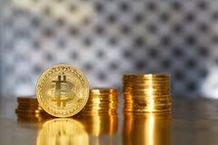 Bitcoin - moneda del futuro fotos de archivo libres de regalías