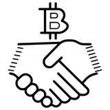 Bitcoin Moneda física del pedazo Moneda de Digitaces stock de ilustración