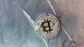 Bitcoin monety na granicie zbiory wideo