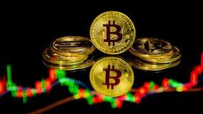 Bitcoin monety z globalną handel wymiany ceną rynkową sporządzają mapę w tle zbiory