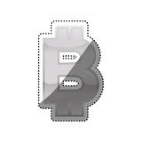 Bitcoin Money currency. Icon  illustration graphic design Royalty Free Stock Photos