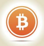 Bitcoin money. Logo with shadow on light background Stock Photos