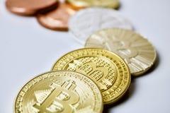 Bitcoin mynt Arkivfoto
