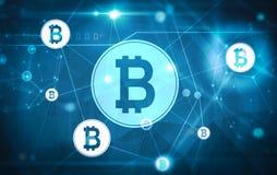 Bitcoin nätverksmatris vektor illustrationer