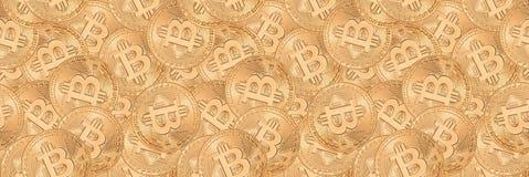 Bitcoin Nahtloses Muster Stockfoto
