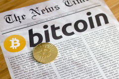 Bitcoin the new currency online Stock Image