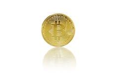 Bitcoin no fundo branco Imagens de Stock Royalty Free