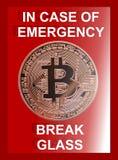 Bitcoin-Notfall stock abbildung
