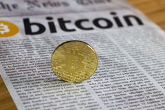 Bitcoin nowa waluta online Fotografia Stock