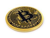 Bitcoin op witte achtergrond Stock Afbeelding