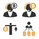 Bitcoin Operator Vector Icon Set Stock Photo