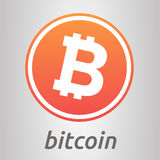 Bitcoin orange logo Royalty Free Stock Photos