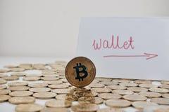 Bitcoin pappersplånbok Arkivfoton