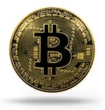 Bitcoin. Physical bit coin. Digital currency. Cryptocurrency. Go Stock Photos