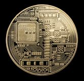 Bitcoin. Physical bit coin. Digital currency. Cryptocurrency. Go Royalty Free Stock Image
