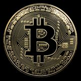 Bitcoin. Physical bit coin. Digital currency. Cryptocurrency. Go Royalty Free Stock Photos