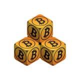 Bitcoin Piccola piramide arancio di Bitcoin Fotografie Stock