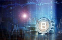 Bitcoin pieniężny pojęcie Obrazy Royalty Free