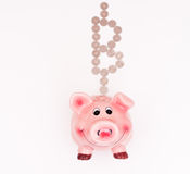 Bitcoin Piggy Bank Royalty Free Stock Photos