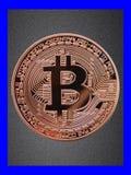 Bitcoin plakat na kanwie Obrazy Stock