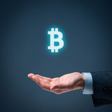 Bitcoin protection Stock Image