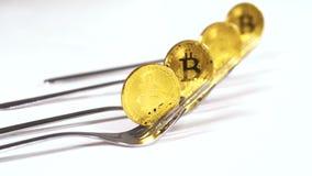 Bitcoin Prowiantowe transakcje w księgi głównej wersi Nazwany Blockchain zdjęcie wideo