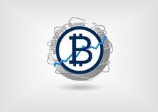 Bitcoin przyrostowy i wzrostowy pojęcie jako ilustracja Zdjęcie Stock