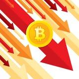Bitcoin puszka trend - kreatywnie wektorowa pojęcie ilustracja w mieszkanie stylu Cyfrowego cryptocurrency pojęcia biznesowy szta ilustracja wektor