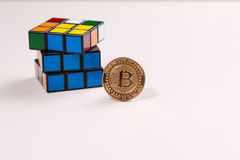 Bitcoin puzzle Stock Images